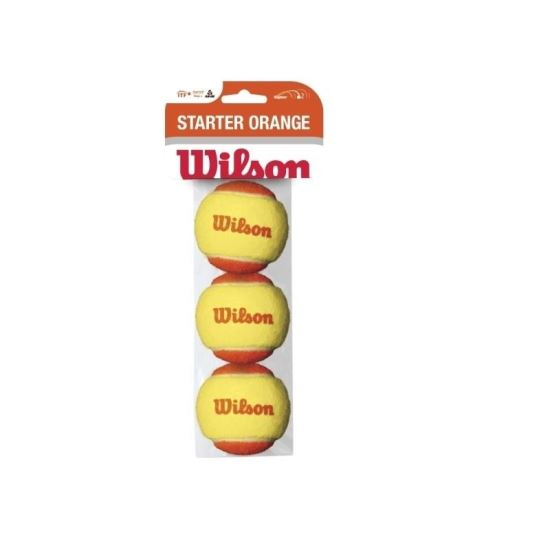 Set mingi tenis Wilson Starter Orange, 3 bucati