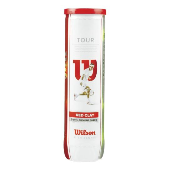 Set mingi tenis Wilson Tour Clay Red, 4 bucati
