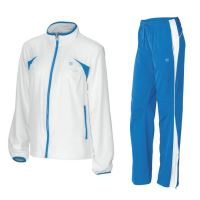 Trening Wilson Junior Stretch Woven Warm-UP, copii, Alb/Albastru, M