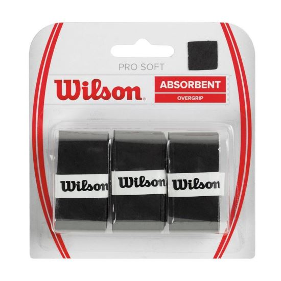 Set overgrip Wilson Pro Soft, negru, 3/set
