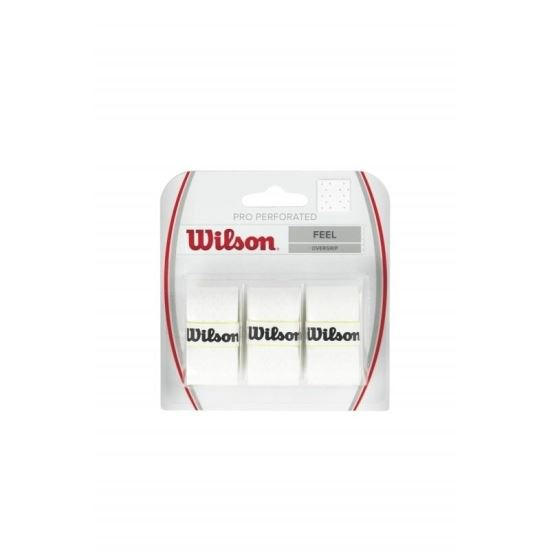 Overgrip Wilson Pro Perforated, alb