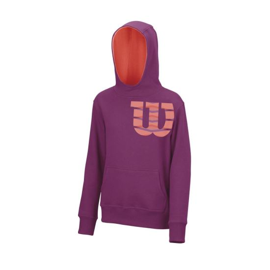 Hanorac Wilson Shoulder Cotton Hoody, juniori, violet