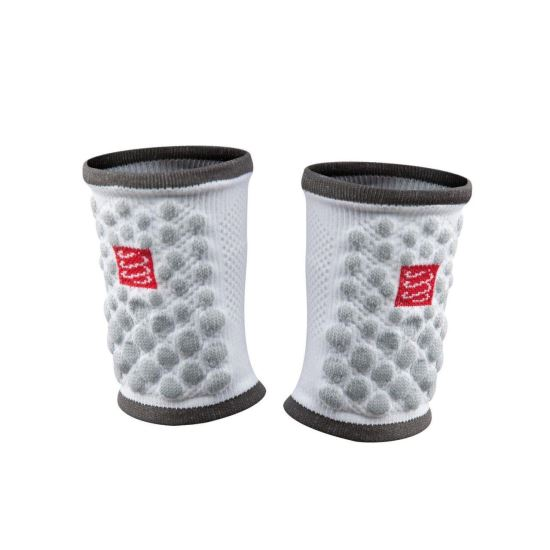 Bandana incheietura Compressport 3D.DOTS, alb