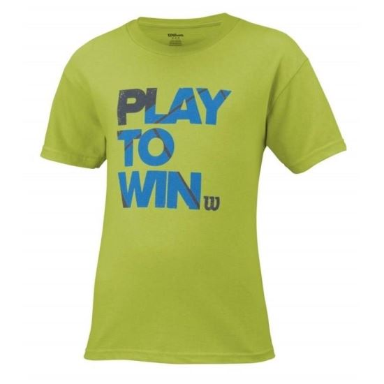 Tricou Wilson Play To Win, juniori, verde, XL